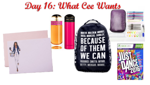 Day 16: What Cee Wants